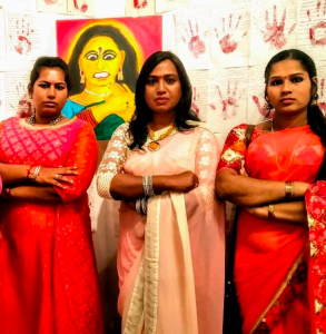 Artists Sowndharya Gopi, Kalki Subramaniam and Kanchana